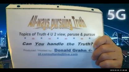 AwPT = All-ways Pursuing Truth, Feb. 3, 5G Hearings on dangers, etc.