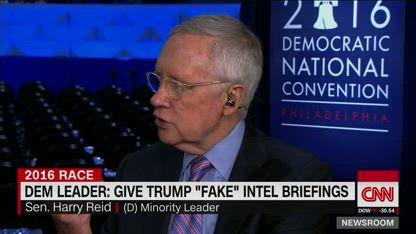 Sen. Harry Reid Give Trump fake CIA intel briefings