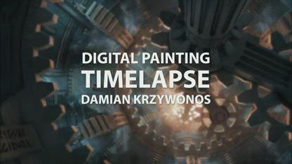 Timelapse Digital Painting - Dwemer Assembly  enviro landscape concept illustration speedpainting