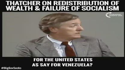 Margaret Thatcher on the failure of Socialism