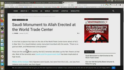 Saudi Monument to Allah Erected at the World Trade Center