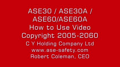 """ASE30 / ASE30A / ASE60 / ASE60A  """"HOW TO USE"""" VIDEO  (COPYRIGHT 2005-2060 )"""