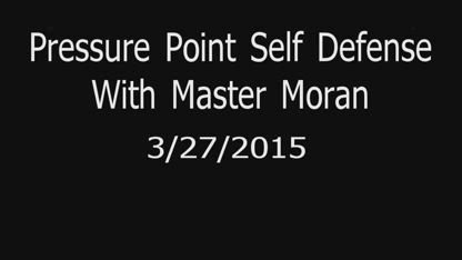 Clinch defense with pressure points - pressure point self defense