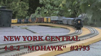 "New York Central 4-8-2 ""MOHAWK"" # 2793  1m58s"