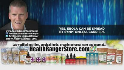 Yes, EBOLA can be spread by symptomless carriers
