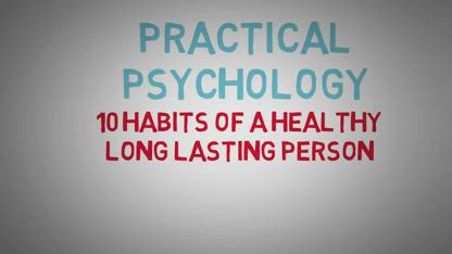 10 Habits of Healthy People - How To Live Longer