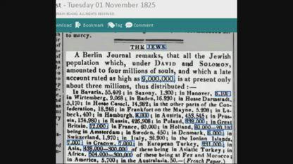 6 Million Jews 1823 till 1936 Newspaper.