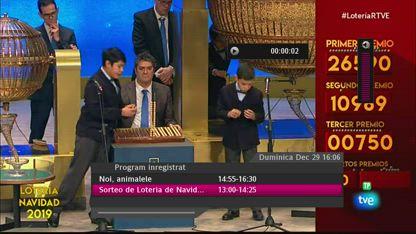 Loterie spaniolă 29 decembrie 2019