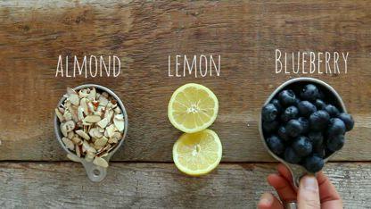 Almond Lemon Blueberry Pie Bars