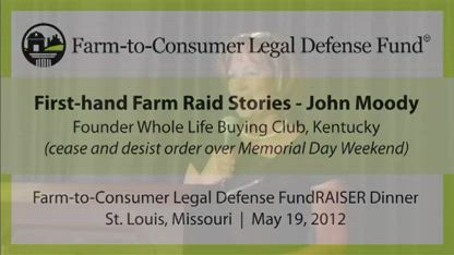 First-Hand Farm Raid Stories - John Moody, Whole Life Buying Club