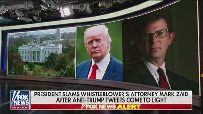 Trump slams whistleblower's attorney after anti-Trump tweets resurface