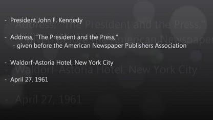 JFK Secret Societies Speech (full version) - The Speech That Killed Him - About Secret Societies