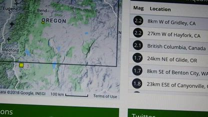EARTHQUAKES FOR ONLY THE PACIFIC NORTHWEST