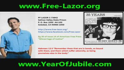 Free Lazor (36 Yrs in Prison for Self-Defense Shooting) Calls from California