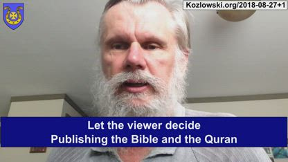 Publishing the Bible and the Quran – Let the viewer decide